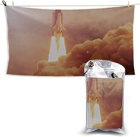 La nave espacial despega en el espacio Hombres S Toallas de playa Microfibra Viaje Toalla de
