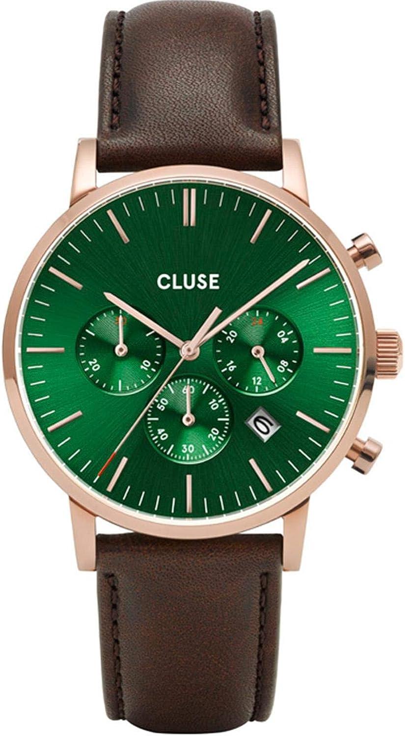 Cluse Aravis Reloj de hombre cuarzo 40mm correa de cuero CW0101502006