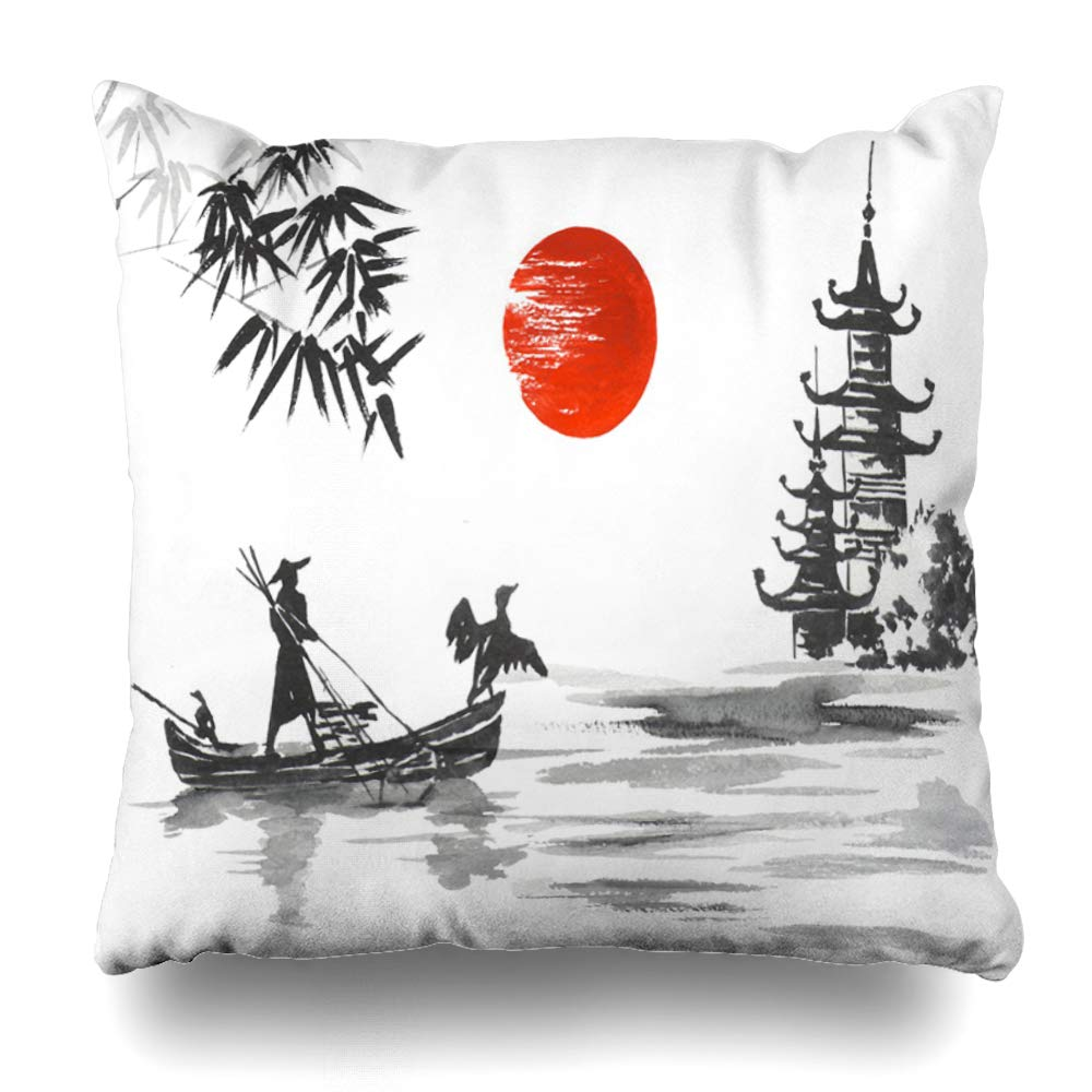 Amazing Amazon Com Alliucoo Throw Pillow Covers Tabernacle Red Ink Pdpeps Interior Chair Design Pdpepsorg