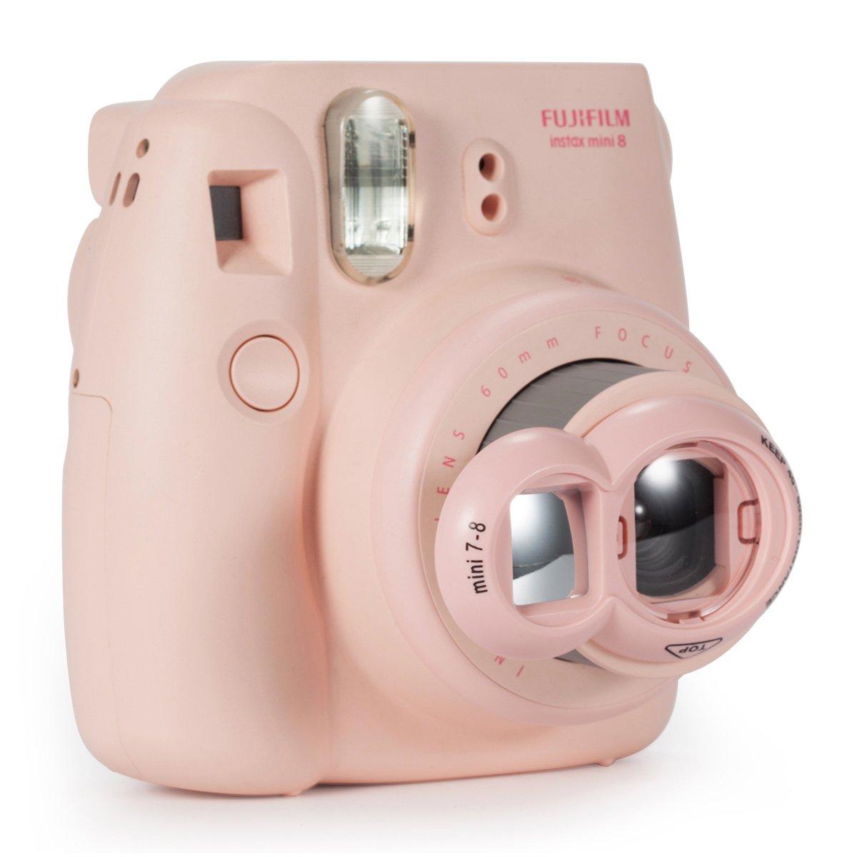 CAIUL Close Up Lens Selfie Portrait pour Appareils photo de Fujifilm Instax Mini 8 8 Jaune 9 7s et Polaroid 300