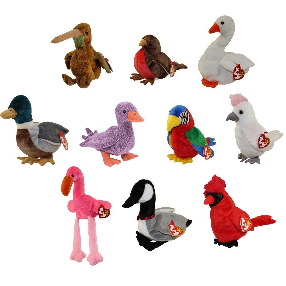 Amazon.com  TY Beanie Babies - BIRDS  1 (Set of 10)(Beak 7504af6278