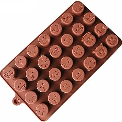 Cute Emoji Meme silicona Break-apart Chocolate barra de ...