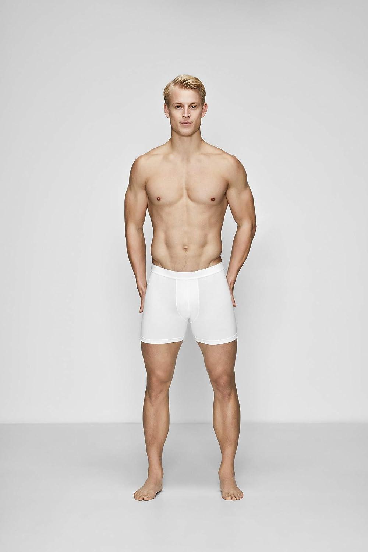 JBS of Denmark Boxer Aderenti in Confezione Doppia dalla S alla XXL Pantaloncini in Misto Cotone Uomo Bianco o Nero
