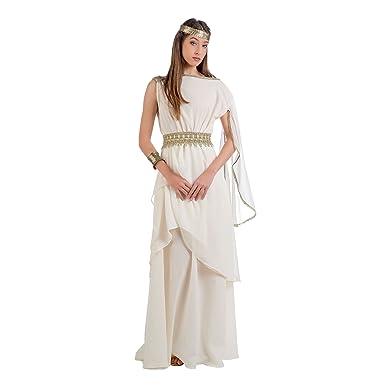 Griechische Prinzessin Kostüm Damen Kleid mit Schärpe creme: Amazon ...