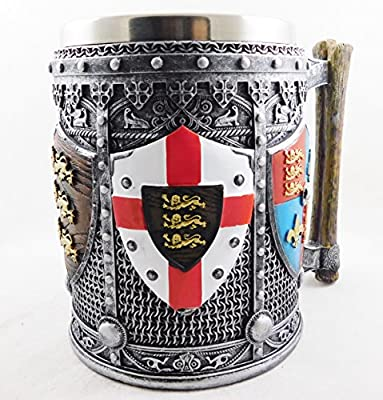 2405 English Heraldic Coat of Arms Tankard St George /& England Drinking Cup Chalice