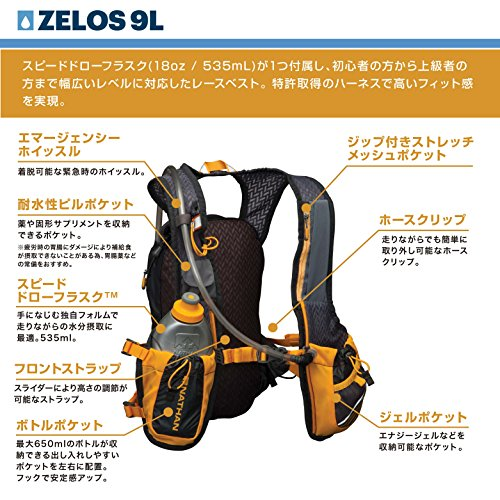 Nathan Zelos 2-Liter Hydration Vest, Nathan Grey, One Size by Nathan (Image #4)'