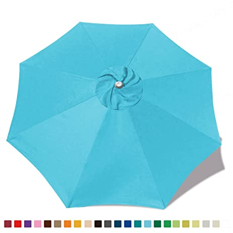 (30+colors)MasterCanopy Replacement Market Umbrella Canopy For 9ft 8 Ribs ( Canopy