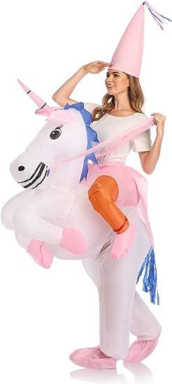 Adult/' Unicorn Costume Inflatable Suit Halloween Cosplay Fantasy Costumes