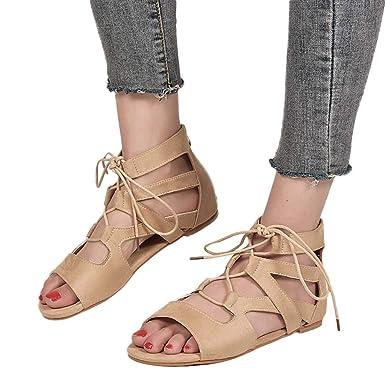 c2118bb00a15 Amazon.com  BSGSH Lace up Sandals