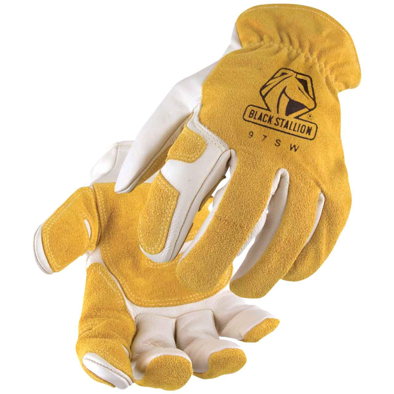 Revco Leather Drivers Work Glove, Kevlar Stitched, Reinforced Palm