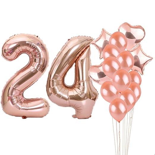 24 cumpleaños decoraciones suministros de fiesta, 24º ...