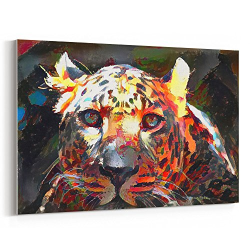 Westlake Art Leopard Zoo - Canvas Print Wall Art - By Canvas Stretched Gallery Wrap Modern Abstract Artwork Home Decor - Ready to Hang 12x18 Inch (Leopard Costume Face Paint)