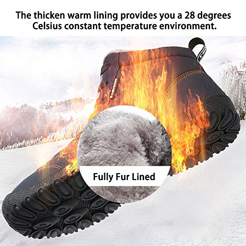 on Oberm Fur Boots Womens Camel Lined Winter Snow Shoes Ankle Boots Booties Mens Slip Fully Outdoor nrnZXzxW