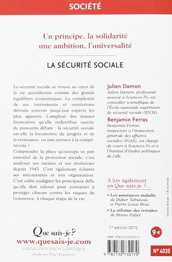 3cc2d3fb5e0 Amazon.fr - La sécurité sociale - Julien Damon
