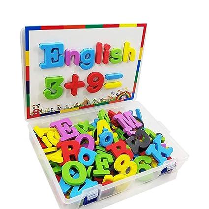 Amazon.com: WOLFBUSH Letras y números magnéticos, 82 piezas ...