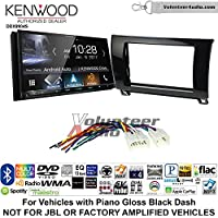 Volunteer Audio Kenwood DDX9904S Double Din Radio Install Kit with Apple CarPlay Android Auto Bluetooth Fits 2007-2013 Non Amplified Toyota Tundra, 2008-2013 Sequoia (Metallic Gray)
