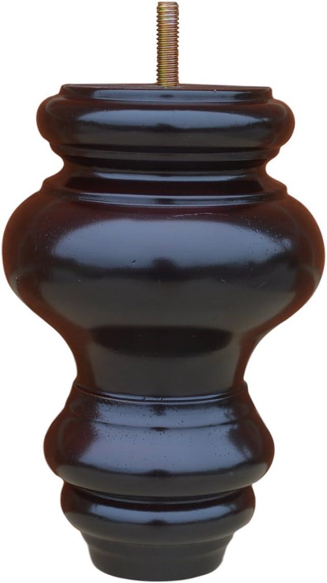 """BingLTD Sofa Feet - 6"""" Mahogany Hardwood Sofa Legs - Set of 4 (P844-157-FBA)"""