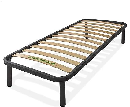Dormiland - Somier de cama individual de 80 x 190 cm con patas, estructura de carga completamente de hierro.