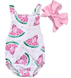 Canis Baby Girls Watermelons Print Backless