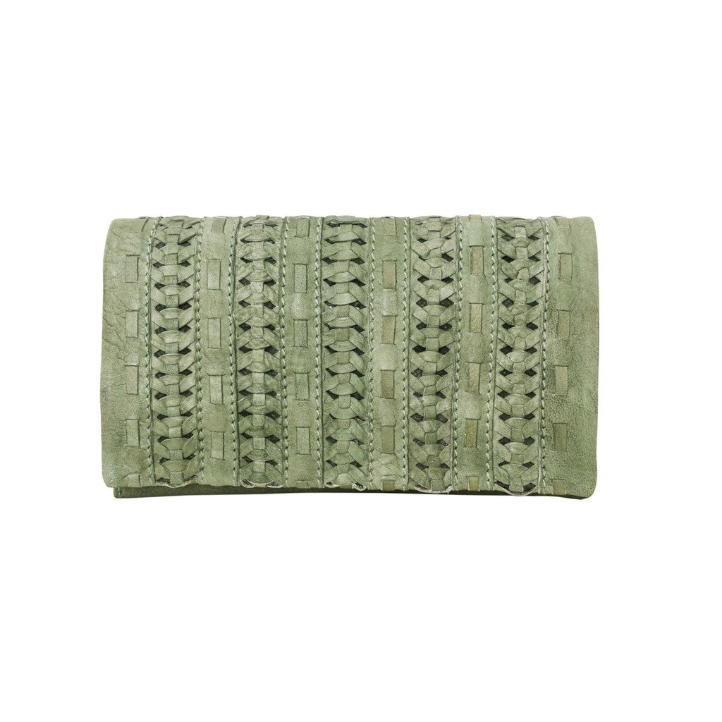 Latico Leathers Lawrence Wallet Genuine Authentic Luxury Leather, Designer Made, Business Fashion and Casual Wear, Washed Green