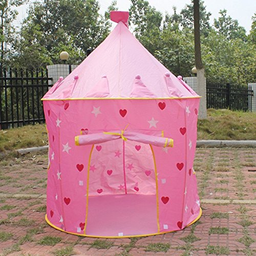 Playhouse Pink Princess Castle Play Tent for Kids - Indoor /