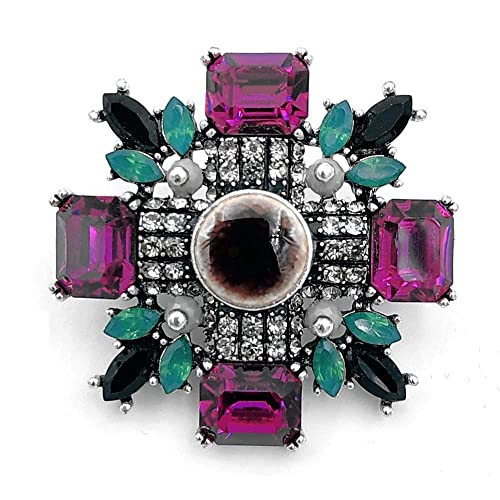 031893e78 DREAMLANDSALES Antique Green and Pink Crystal Round Stone Art Deco Super  Star Brooches: Amazon.ca: Jewelry