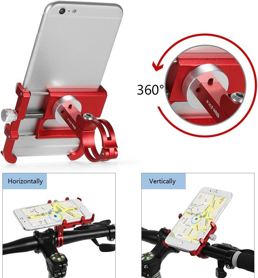 Lixada Supporto per Telefono Cellulare Supporto Girevole per Manubrio in Alluminio Regolabile Girevole 360 /° per Cellulare GPS