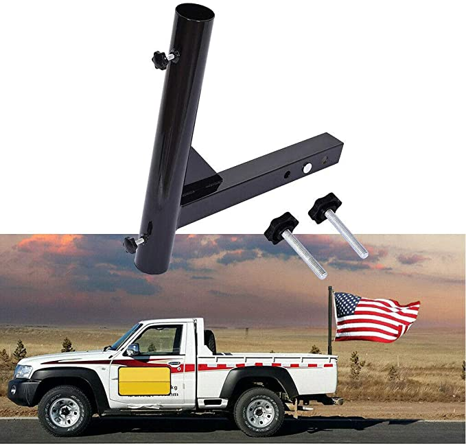 Camper Trailer Pickup RV HZYICH 2 inch Hitch Receivers Mount Flagpole Holder Universal fit for Fit for Jeep Truck SUV