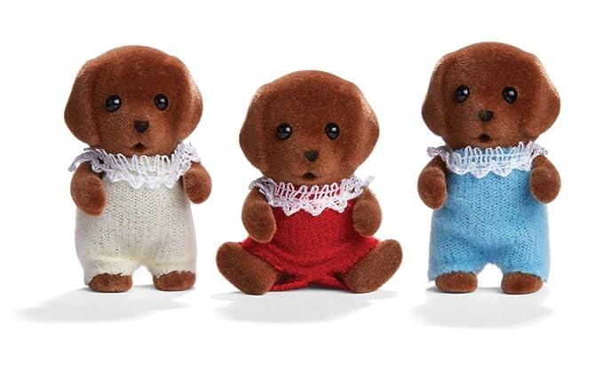 Amazon.com: Calico Critters Chocolate Labrador trillizos ...