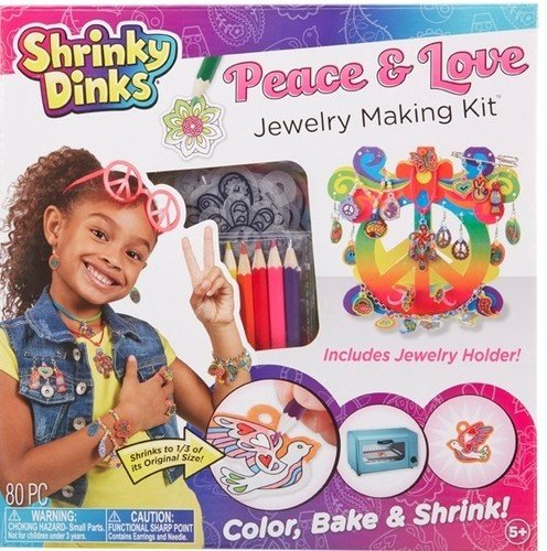Shrinky Dinks Peace Love Jewelry