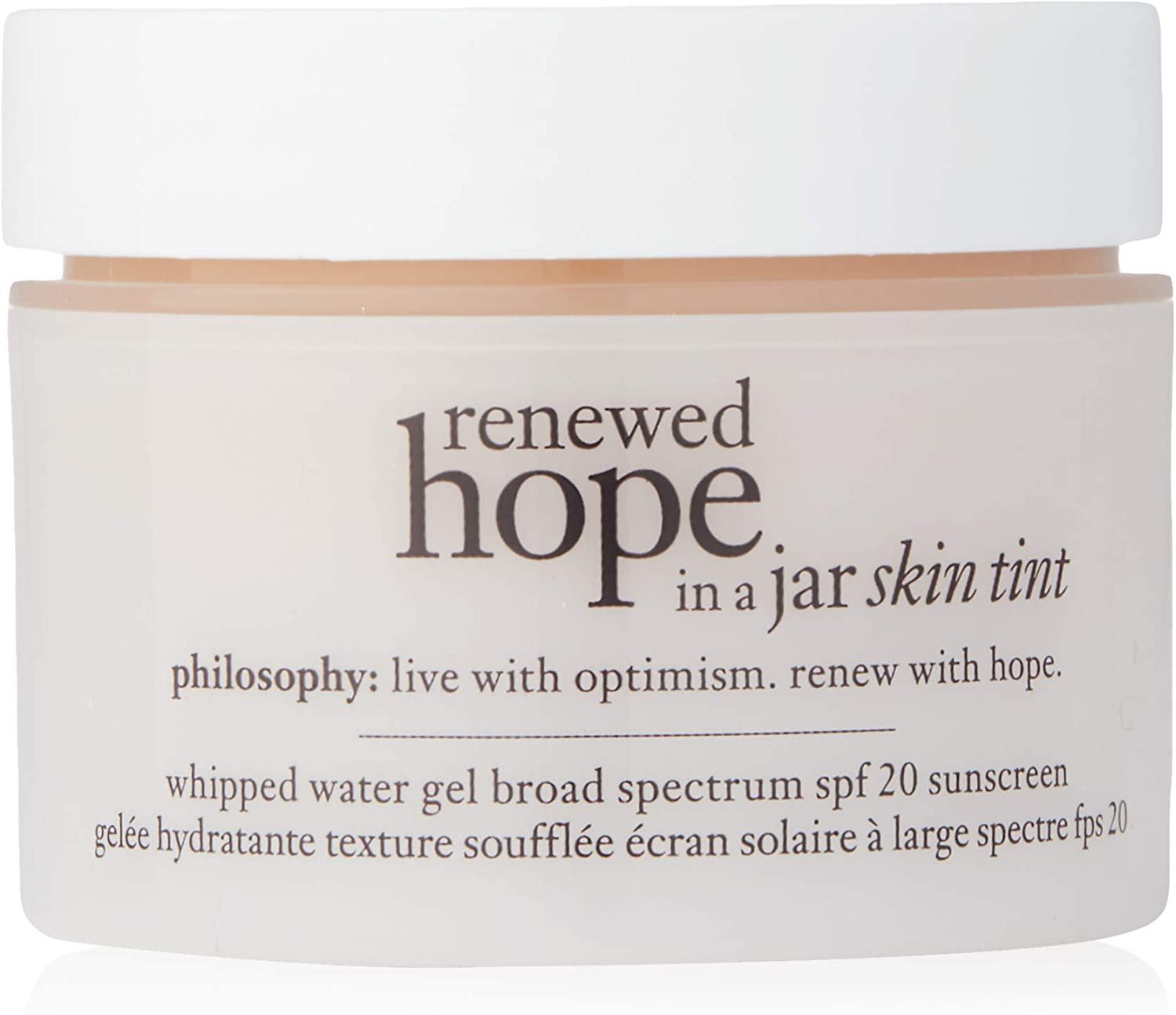 Philosophy Renewed Hope in a Jar Skin Tint Spf 20, 5.5 Beige for Women, 1 Ounce