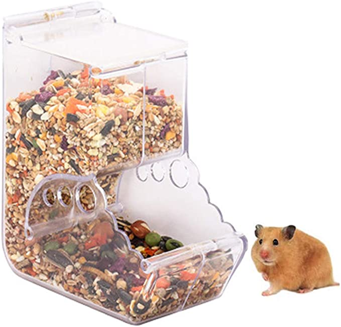 Nicedeal Automatic Hamster Feeder Automatic Feeding Device Water Dispenser Feeder Bowl for Hamster Bird Pigeon Parrots Mini Hedgehog 1PC