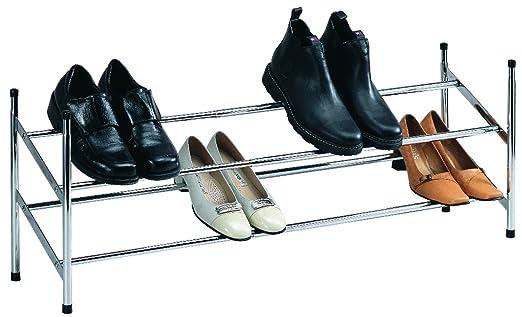 Schuhregal schuh aufbewahrungs system verchromt metall bis