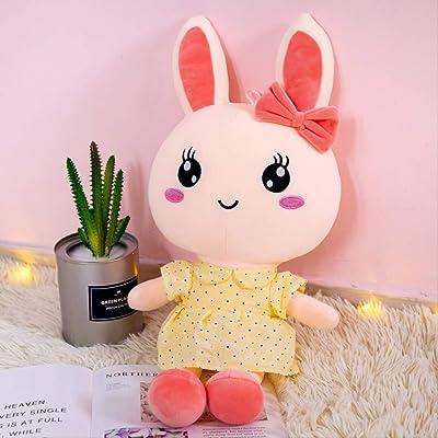 BEST9 Juguete Suave del Conejo de la muñeca de la Felpa, Almohada de la muñeca del Conejo del Animal Regalo del día de San Valentín,, 45cm Amarillo: Juguetes y juegos