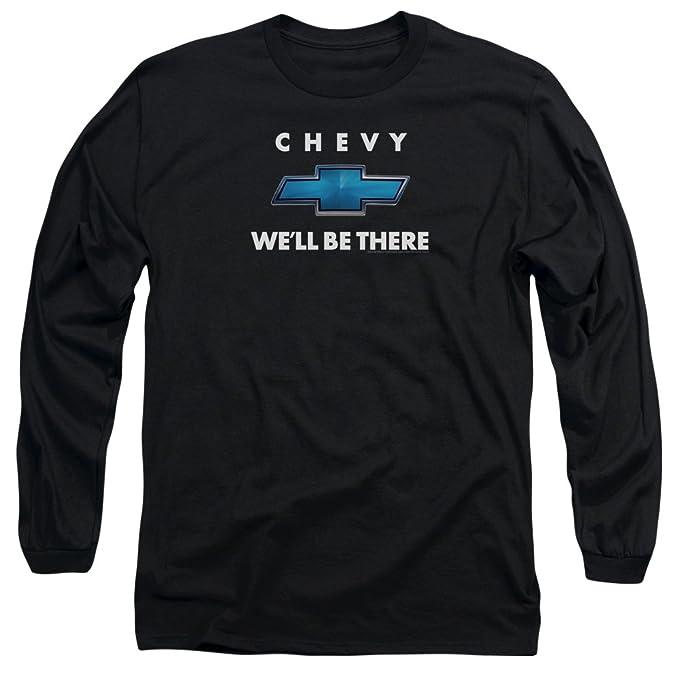 Chevy Camiseta - Manga Larga - Hombre Negro Negro Medium