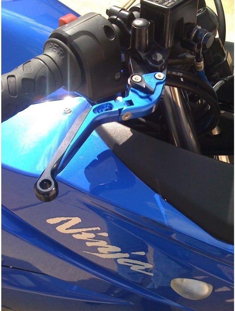 ZX636R 1 Coppia Regolabile Pieghevole CNC Freno Leve di Frizione Compatibile con la Kawasaki ZX6R CYRDJ Leva Frizione Moto ZX6RR 2000-2004 ZX10R 2004-2005,Blu