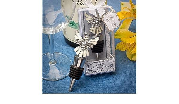 DISOK - Tapón De Vino Angel - Tapones de Vino, Tapón Vino Angel Botellas Angelito para Detalles, Recuerdos y Regalos de Comuniones - 1ª Comunión: Amazon.es: ...
