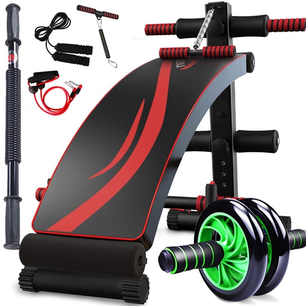 Bauchtrainer Lxn Verstellbare Sit up AB Bank, Faltbare Decline Bank mit Reverse Crunch Griff für Home Gym Ab Übung, Sport Fitnessgeräte