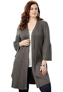 b82972636325d9 Roamans Women s Plus Size Sleeveless Cardigan at Amazon Women s ...
