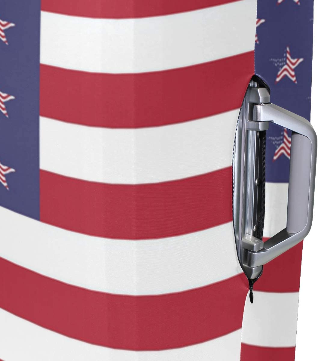 3D American Flag Design Print Luggage Protector Travel Luggage Cover Trolley Case Protective Cover Fits 18-32 Inch