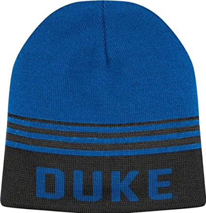 Amazon.com   Duke Blue Devils Royal Rush Reverse Beanie Knit Hat ... a537ed5a32d