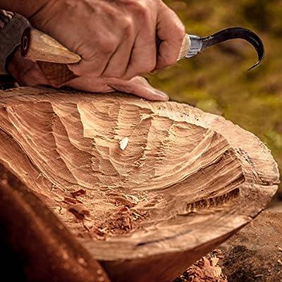 Morakniv Wood Carving 164 Hook Knife with Carbon Steel Blade from Morakniv