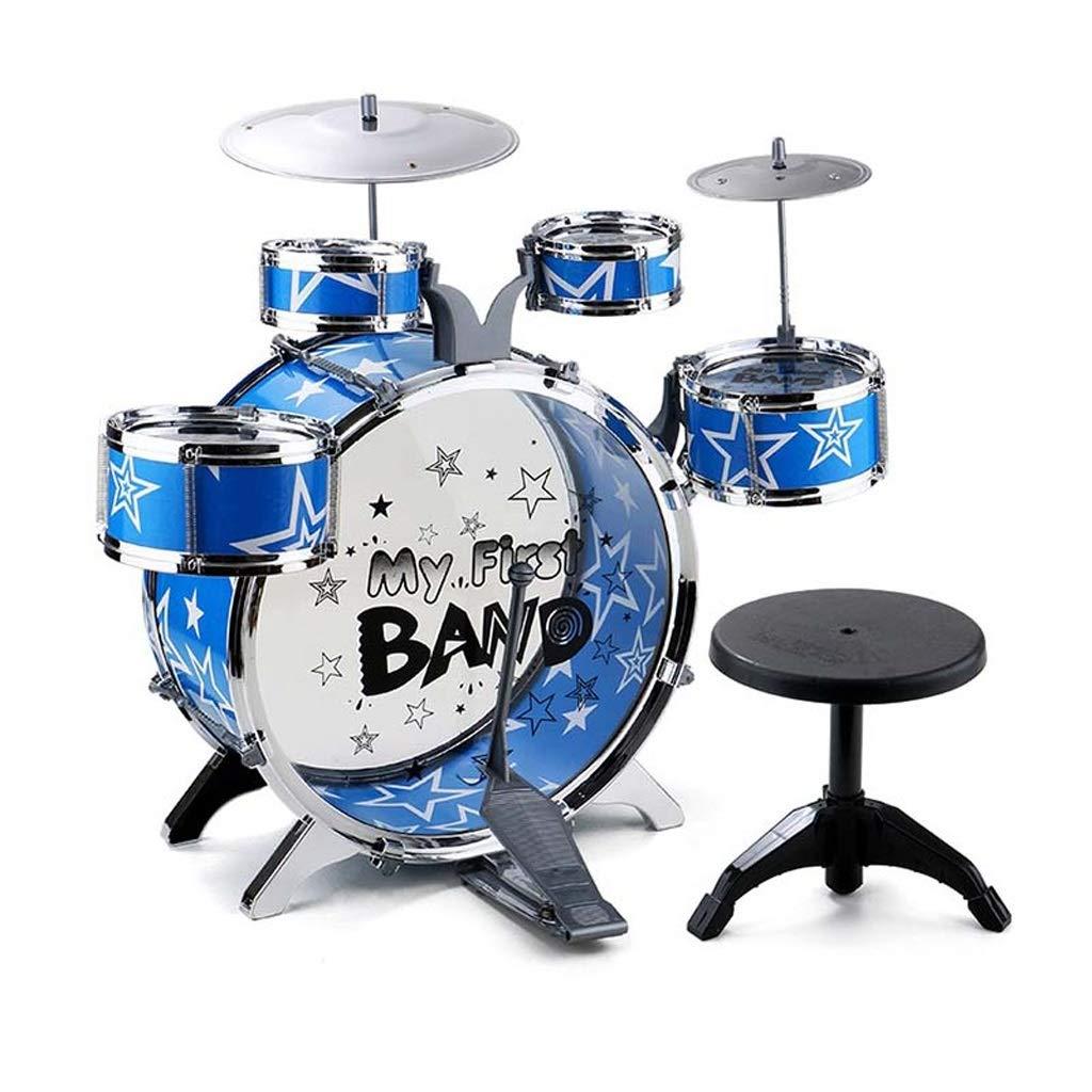 Blau 5 drums LINGLING-Trommel Schlagzeug-Spielzeug-Geschenk-Plastikmädchen-Junge Der Kinder Das Lernen Zu Schlagen (Farbe   Blau, größe   5 Drums)