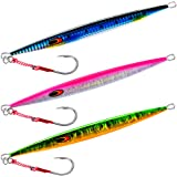 Goture Tuna Lures Vertical Saltwater Jigs // Glow Lead Jigs // 80g 100g 150g Deep Sea Fishing Lures //Speed Vertical Jigging