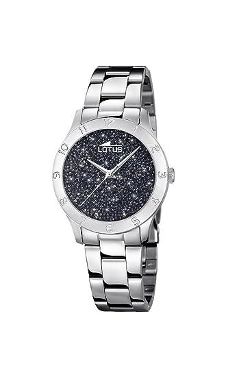 Lotus Watches Reloj Análogo clásico para Mujer de Cuarzo con Correa en Acero Inoxidable 18569/4: Amazon.es: Relojes