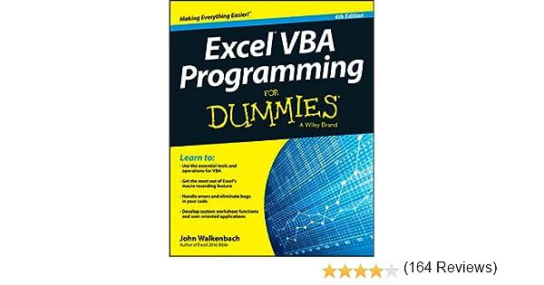 Excel VBA Programming For Dummies 4, John Walkenbach, eBook ...