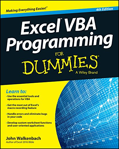 Excel VBA Programming For Dummies (For Dummies (Computer/Tech)) Pdf