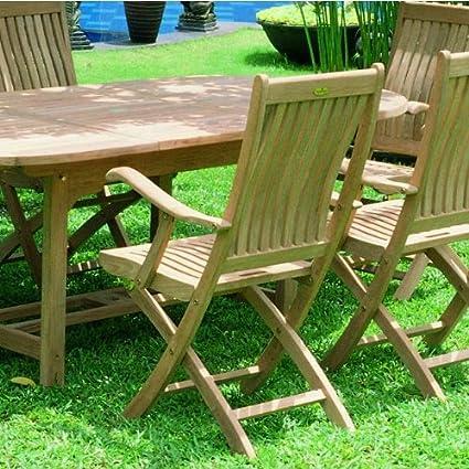 Strange Amazon Com Royal Teak Sailor Folding Arm Chair Kitchen Evergreenethics Interior Chair Design Evergreenethicsorg
