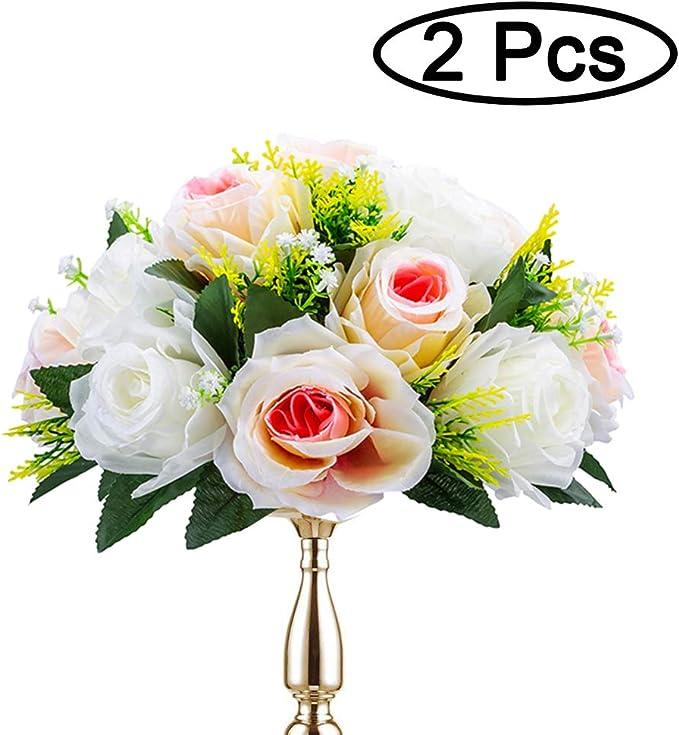 Sziqiqi 2 Piezas Bolas De Rosas, Bolas De Flores con Bandejas ...