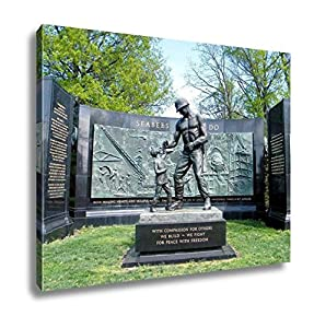 Ashley Canvas The National Seabee Memorial In Arlington National Cemetery Arlington Virginia, Wall Art Home Decor, Ready to Hang, Color, 16x20, AG6080488 by Ashley Canvas